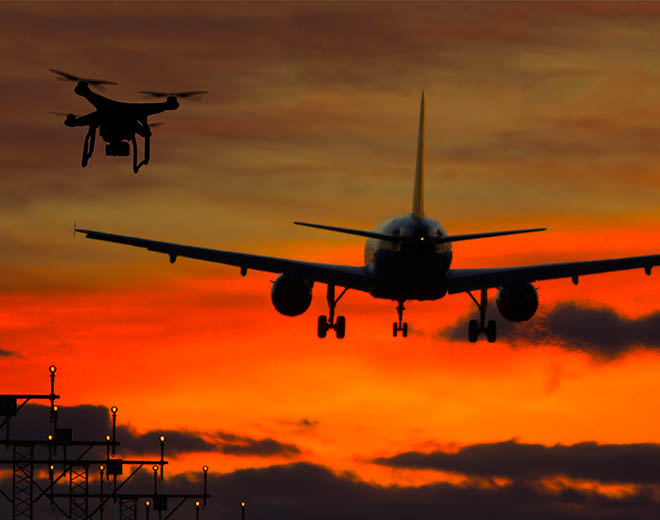 Anti-drone technology for airports