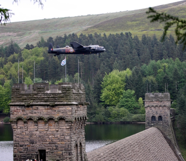 Lancashire Bomber over Ladybower Reservoir