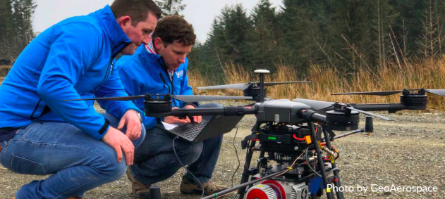 GeoAerospace pilots with LIDAR equipped Drone