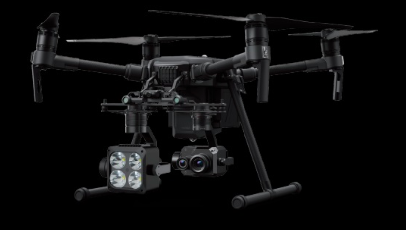 Z15 payload (left) integrated with a DJI M200 Series drone.