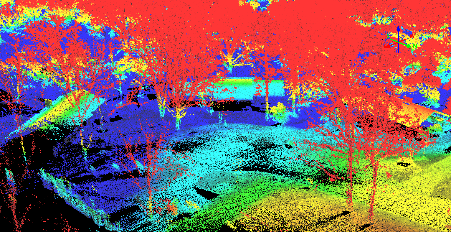 LIDAR point cloud captured by drone
