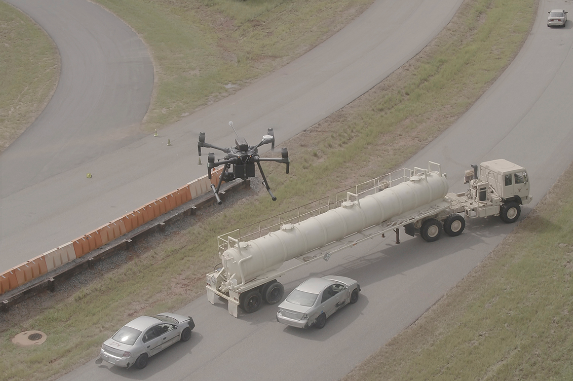 Road Traffic Collision - Using drones for gas detection