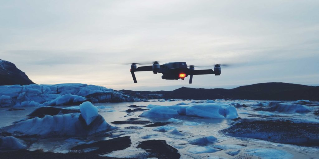 Drones in the mountains