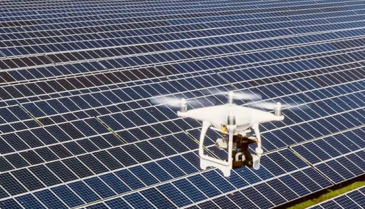 Drone and Solar Panel