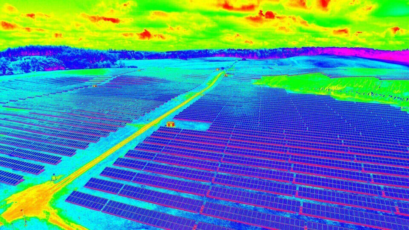 Solar Panel Thermal Image