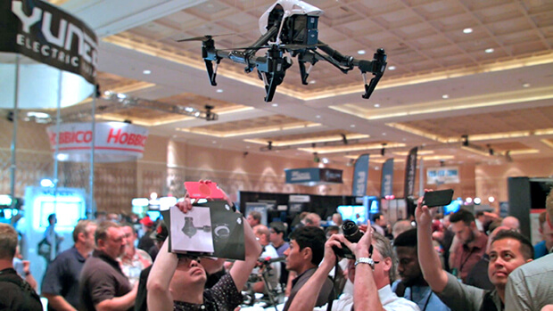 Incorporating drones into product launches
